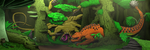 A Clash of Giants in The Deep Jungle by a3dkid