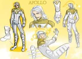 Apollo redesign - model sheet by vejiicakes