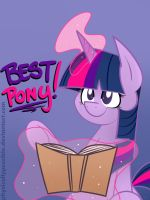 Updated Best Pony: Twilight Sparkle Badge by alexsalinasiii