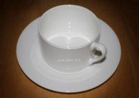 81 - White Teacup by gerrish