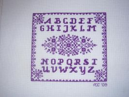 Purple Work Sampler by audreydc1983