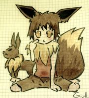 Me And Eevee by GiullVengeance