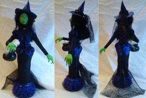 OOAK Stump Doll - Spinestra the Spider Witch by mihijime