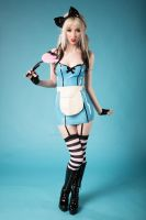 Latex Alice in Wonderland by SinfulCosplay