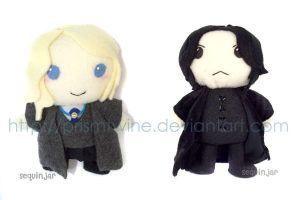 Gingerbread Snape and Luna by prismtwine