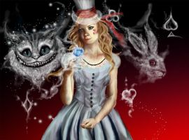 Queen Alice of Wonderland by Exenora