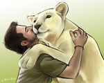 Kevin and his lion by Ebillan