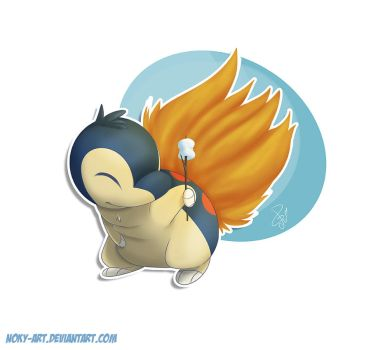Cyndaquil by Noky-Art