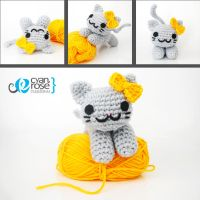 Alice, an adorable amigurumi cat by CyanRoseCreations