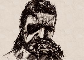 Metal Gear Art Studio - Big Boss 1 by SolidAlexei
