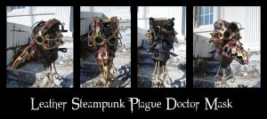 Leather Steampunk Plague Doctor Mask by Epic-Leather