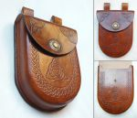 Moulded leather pouch by Syrech
