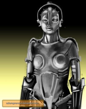 Maria the Robot - Metropolis - Daily Challenge by oskaragnarsson
