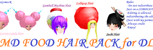 MMD Food Hair Pack by ElenaGomezR by ElenaGomezR