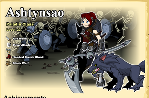 Aqw profile page by SailorEarth00