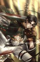 SnK - Lance Corporal Rivaille by PrinceKara