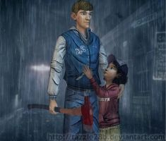 Ben and Clementine - Rainy Day by Tazzle28b