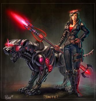 Smite Awilix Renegade Concept by PTimm