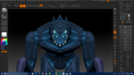 Hex Model base color (College work) by A-Dreamare