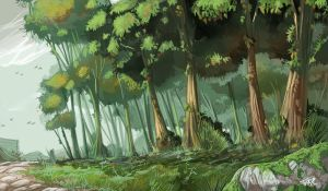 Concept Art... trees... by Tosello