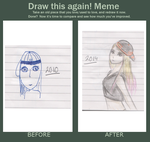 Before and after meme ( 2010, 2014) by Xia-Kyandy