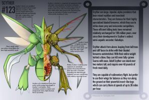Scyther Anatomy- Pokedex Entry