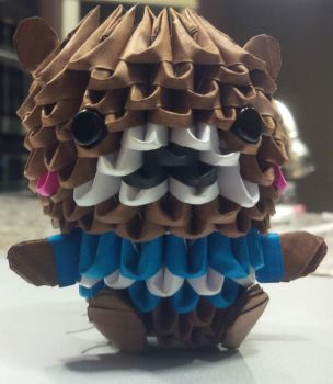 3D Origami Bear by shelbysarrazin