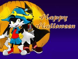 Klonoa: Happy Halloween by SukiTenshi