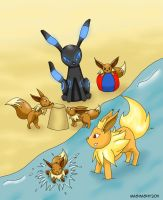PKMN: A Day At The Beach by mashashy