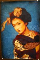Maiko Fukuho on Blue pasre-up by Tony231