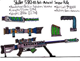 Shiller 580-A3 Anti-Material Sniper Rifle by Sir-Saboteur