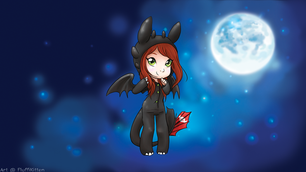 Toothless Chibi Stream by fluffikitten