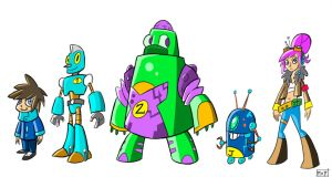 My Awesome Robot Family - Early Designs! by MattCarberry