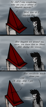 They're The Equilavent Of A Silent Hill Monster by GingaAkam