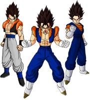 Gogeta y Vegetto Fusion by theothersmen