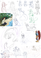 Sketch Dump 2013 by MintyMaguire