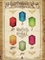 The Rupees of Hyrule - Legend of Zelda by studiomuku