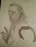 Tom Hiddleston Loki (WIP traditional art practice) by AStolenRelic