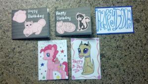 My Cards for the Birthday Mail Campaign by Oceanblue-Art