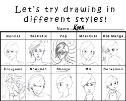 Pixiv Style Meme with OC Keen by nikkeae