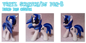 Vinyl Scratch/DJ PON-3 Blind Bag Custom by Scaramouche-Fandango