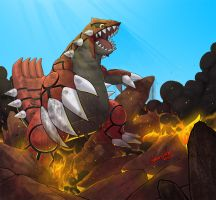 Groudon by GideonLand