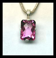 Pink Topaz Pendant by manwithashadow