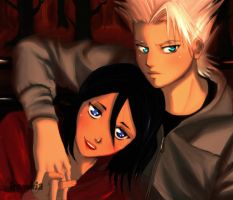 Rukia and Toshiro by irenukia