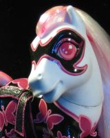 Madame Swallowtail Custom BDSM MLP Closeup by NaamahDarling