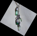 Green Gemstone Elemental Earth Crystal Pendant by mymysticgems