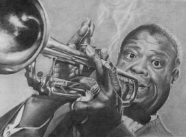 What a wonderful world, Louis Armstrong by JaneyArt