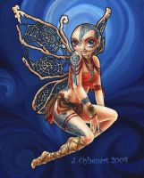 Tribal Fairy: Blue by JessiBeans