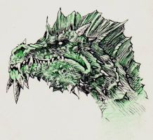 Dragons - Green Dragon by yunuskocatepe
