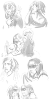 Dragon Age Random Sketches by drathe